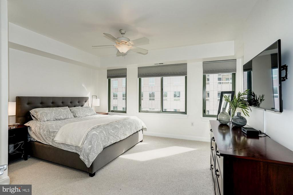 Master bedroom w/ceiling fan, great natural light - 3625 10TH ST N #602, ARLINGTON