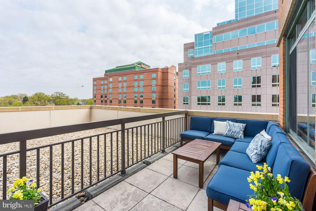 View to the northeast from terrace - 3625 10TH ST N #602, ARLINGTON