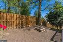Backyard with Firepit - 8506 FOREST ST, ANNANDALE