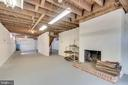 Basement w/ fireplace - 8522 & 8520 FOREST ST, ANNANDALE