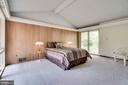 Master bedroom w/ accent wall - 8522 & 8520 FOREST ST, ANNANDALE