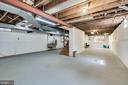 Spacious unfinished basement - 8522 & 8520 FOREST ST, ANNANDALE