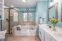 Soaking tub and separate shower in Master Bath - 27 HALIFAX CT, STAFFORD