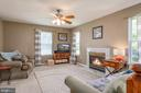 Family Room with gas burning fireplace - 27 HALIFAX CT, STAFFORD