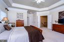 Master suite features tray ceiling - 43604 HABITAT CIR, LEESBURG