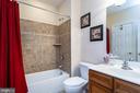 Lower Level full bath w/ceramic tile - 43604 HABITAT CIR, LEESBURG