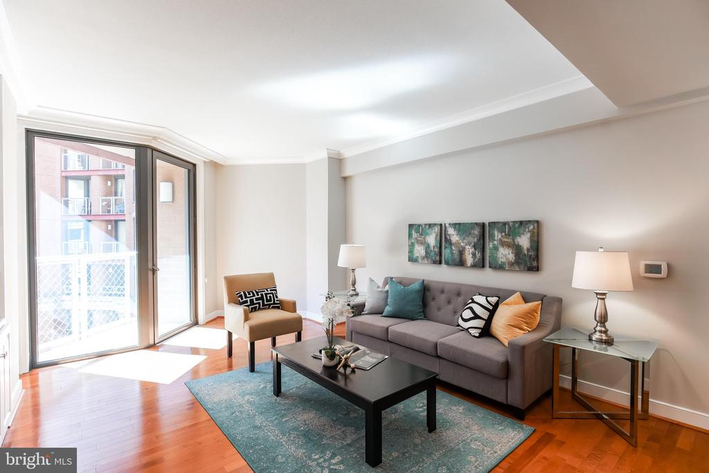 Living Room with Balcony Perfect for Entertaining! - 616 E ST NW #656, WASHINGTON