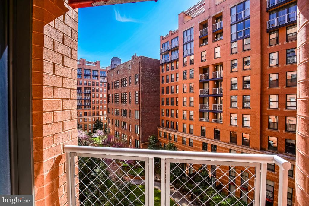 View of Courtyard from Master Suite. - 616 E ST NW #656, WASHINGTON