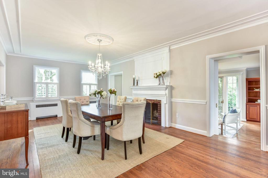 Formal dining room, hardwood floors - 2500 24TH ST N, ARLINGTON