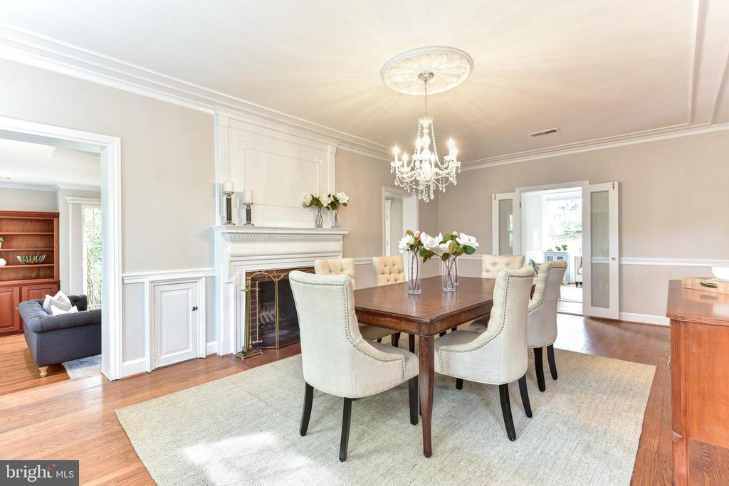 Formal dining room with wood burning fireplace - 2500 24TH ST N, ARLINGTON