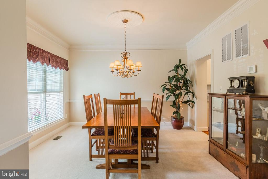 DINING ROOM WITH LOTS OF NATURAL LIGHT - 25657 TREMAINE TER, CHANTILLY