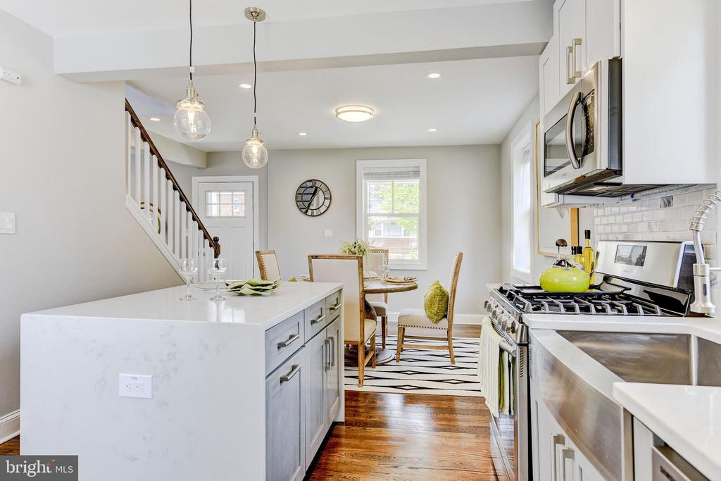 open kitchen/dining - 4419 19TH PL NE, WASHINGTON