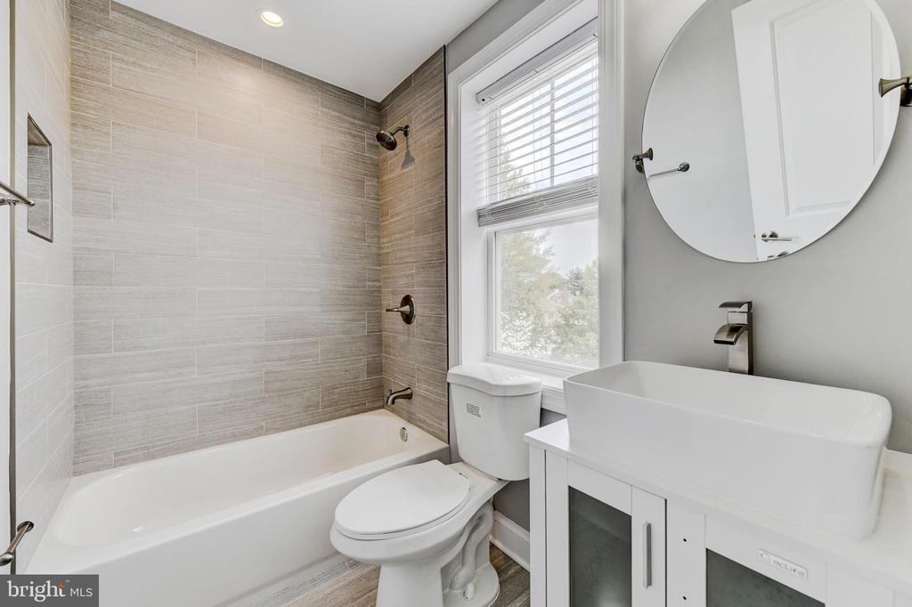 2nd bath upstairs - 4419 19TH PL NE, WASHINGTON
