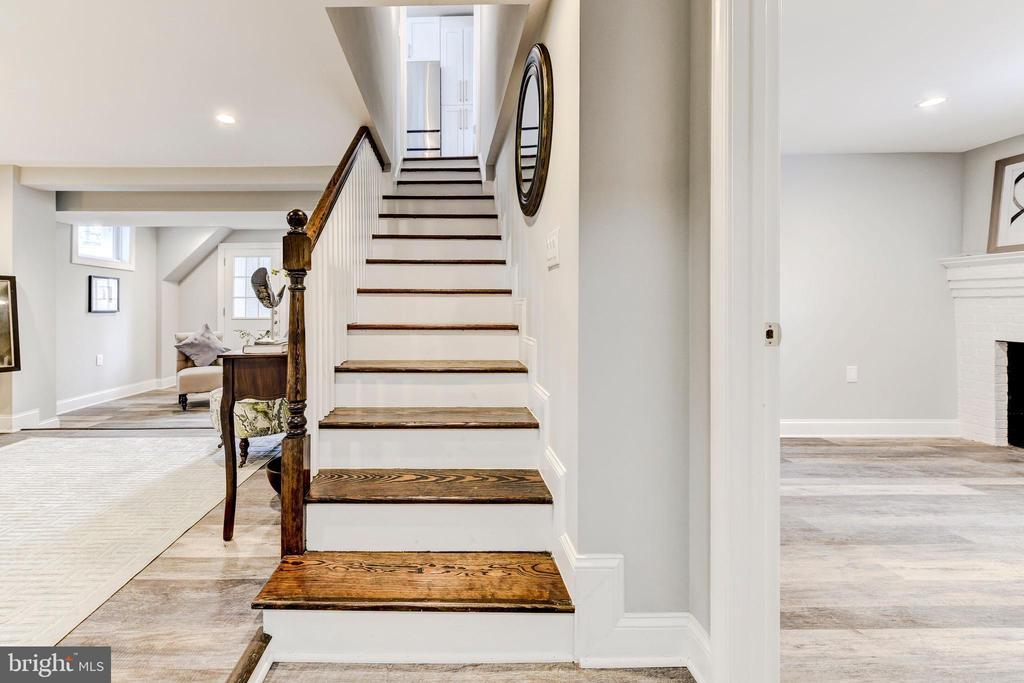 stairs to basement - 4419 19TH PL NE, WASHINGTON
