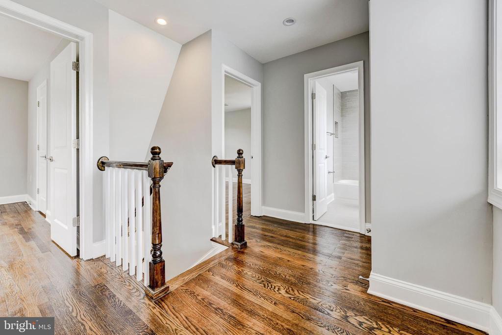 upstairs hallway - 4419 19TH PL NE, WASHINGTON