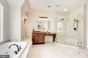 Updated Master Bath with Lovely new Shower. - 1211 RESTON AVE, HERNDON