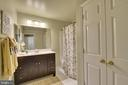 Updated master bath - 1577 LEEDS CASTLE DR #101, VIENNA