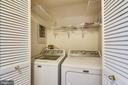 Full size washer and dryer on bedroom level - 1577 LEEDS CASTLE DR #101, VIENNA