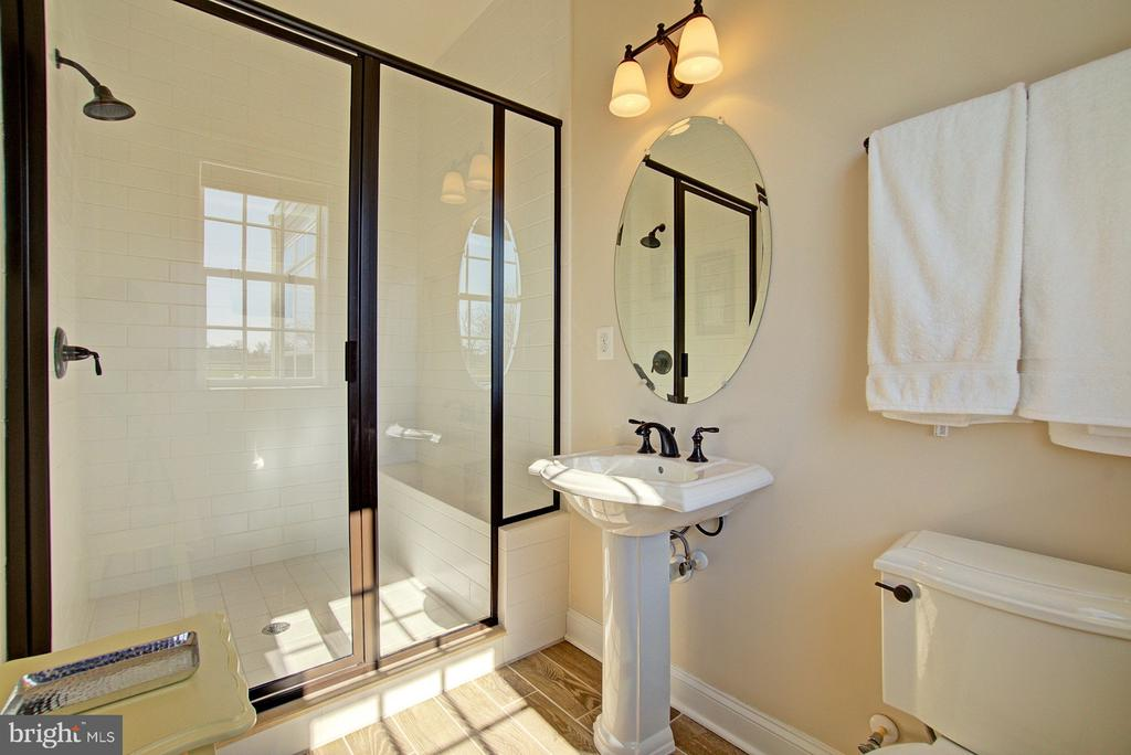 Main level full bath with walk-in shower - 39561 CHARLES HENRY PL, WATERFORD