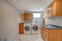 Laundry room in basement - 3611 22ND ST N, ARLINGTON