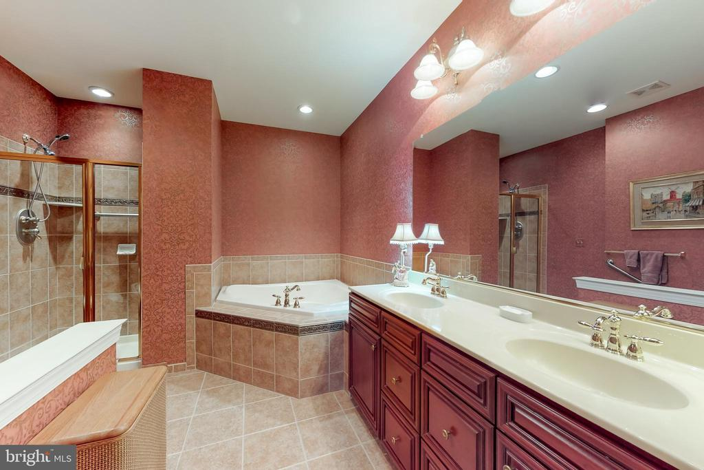 Master bath with soaking tub & separate shower - 5242 ARMOUR CT, HAYMARKET