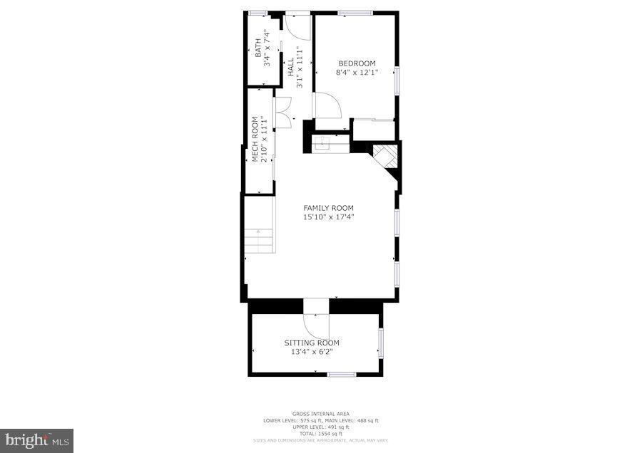 Basement Floorplan - 1021 CRITTENDEN ST NE, WASHINGTON