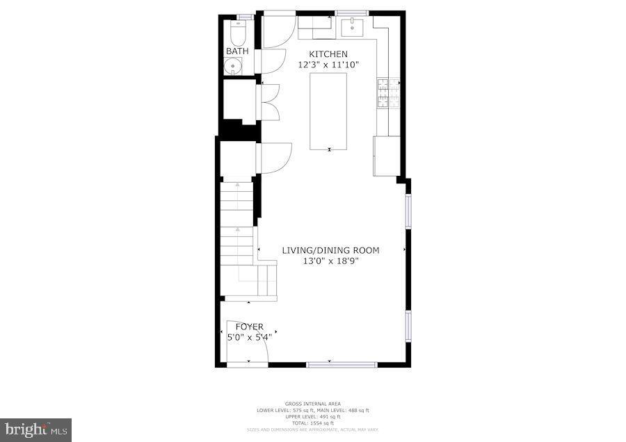Main Level Floorplan - 1021 CRITTENDEN ST NE, WASHINGTON