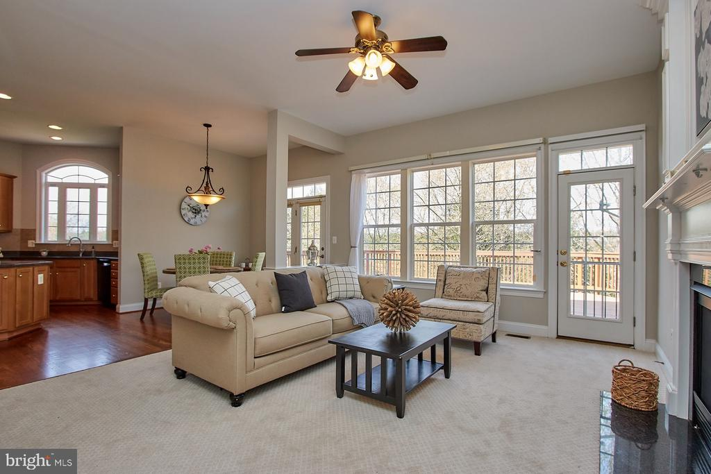 Family Room w/New upscale carpet - 9742 KINLOSS MEWS, BRISTOW