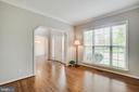 Formal living room with hardwood floors - 79 NORTHAMPTON BLVD, STAFFORD