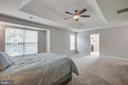Spacious master suite with trey ceiling - 79 NORTHAMPTON BLVD, STAFFORD