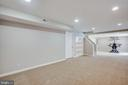 Large rec room with recessed lighting and built in - 79 NORTHAMPTON BLVD, STAFFORD