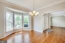 Formal dining room with updated lighting - 79 NORTHAMPTON BLVD, STAFFORD