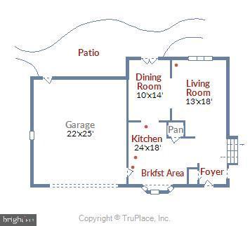 Main Level Floorplan. - 3140 TRENHOLM DR, OAKTON