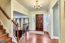 Attractive Foyer. Hardwood Floors on 3 Levels! - 3140 TRENHOLM DR, OAKTON