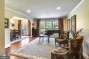 Living Room with Wonderful Views. - 3140 TRENHOLM DR, OAKTON