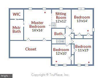 Upper Level Floorplan. - 3140 TRENHOLM DR, OAKTON