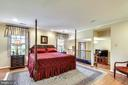 Master Bedroom with View to Sitting Room. - 3140 TRENHOLM DR, OAKTON
