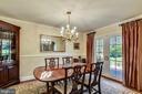 Formal Dining Room Ideal for Dinner Parties. - 3140 TRENHOLM DR, OAKTON