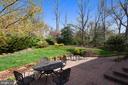 Lovely Patio Overlooking Fenced Backyard. - 3140 TRENHOLM DR, OAKTON