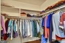 Large Walk-in Master Bedroom Closet. - 3140 TRENHOLM DR, OAKTON