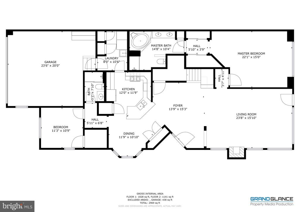 Floor-plan Main Level - 5242 ARMOUR CT, HAYMARKET