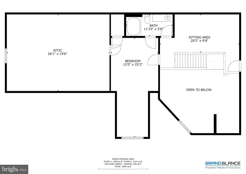 Floor-plan Upper Level - 5242 ARMOUR CT, HAYMARKET