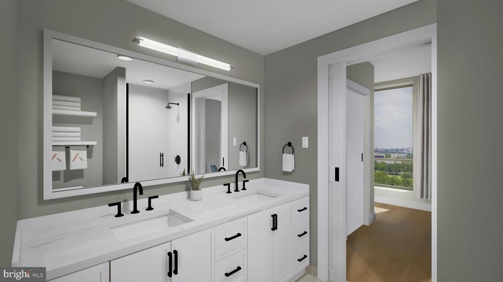 Master Baths with Double Vanities & Ample Storage - 1211 VAN ST SE #1001, WASHINGTON