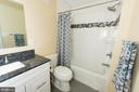 Beautifully updated guest bath - 11114 HARBOR CT, RESTON