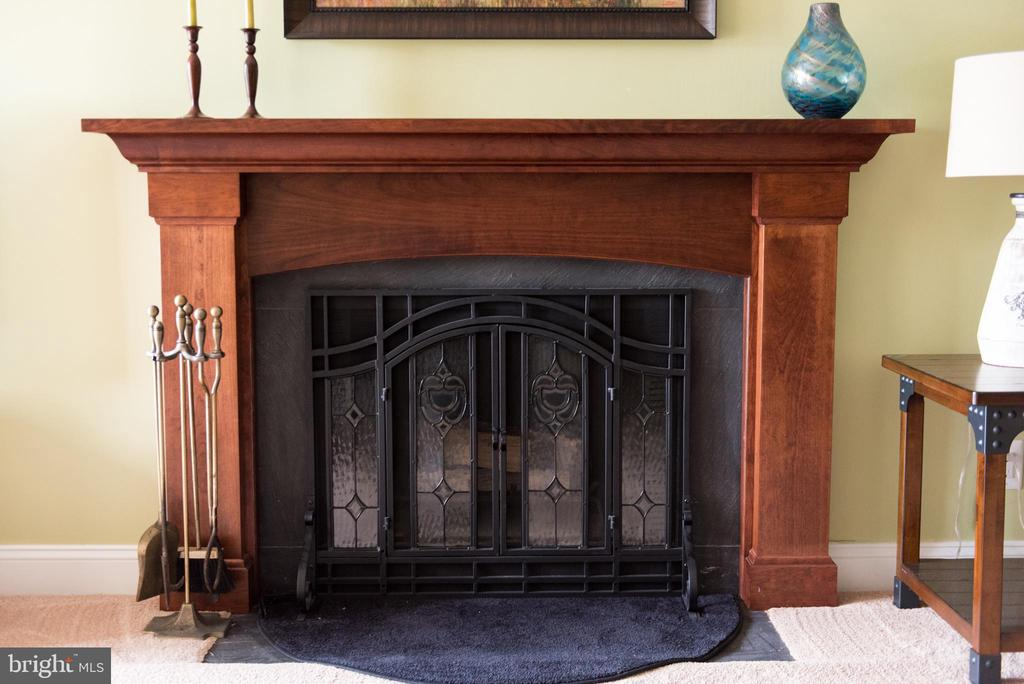 Handsome wood burning fireplace - 11114 HARBOR CT, RESTON