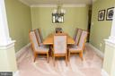Large dining room for an evening of entertaining - 11114 HARBOR CT, RESTON