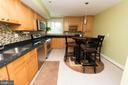 Beautifully updated eat-in kitchen - 11114 HARBOR CT, RESTON