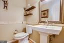 Main level powder room - 12 ADLER LN, FREDERICKSBURG