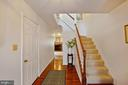 Foyer with hardwood floors - 13102 KIDWELL FIELD RD, HERNDON