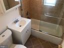 Remodeled Bathroom with Glass bathtub door - 4130 4TH ST SE #4, WASHINGTON
